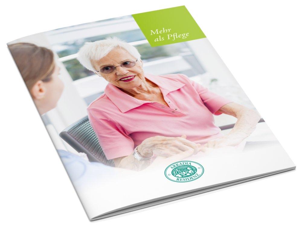 Gestaltung Imagebroschuere Alters- und Pflegeheim